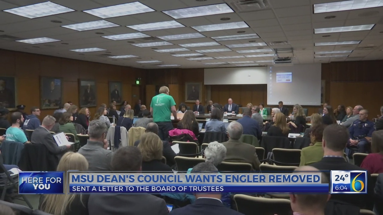 MSU Dean's Council wants Engler removed