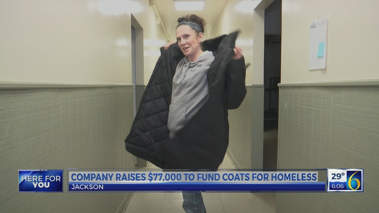 COMPANY RAISES MONEY FOR COATS FOR THE HOMELESS