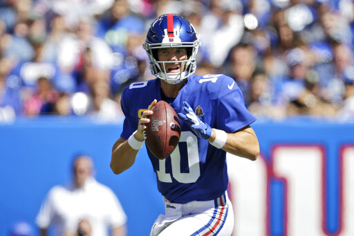 finest selection 5140b 1b871 Giants bench Eli Manning, name Daniel Jones starting QB ...