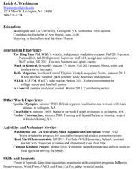 help with and cover letters washington and lee university