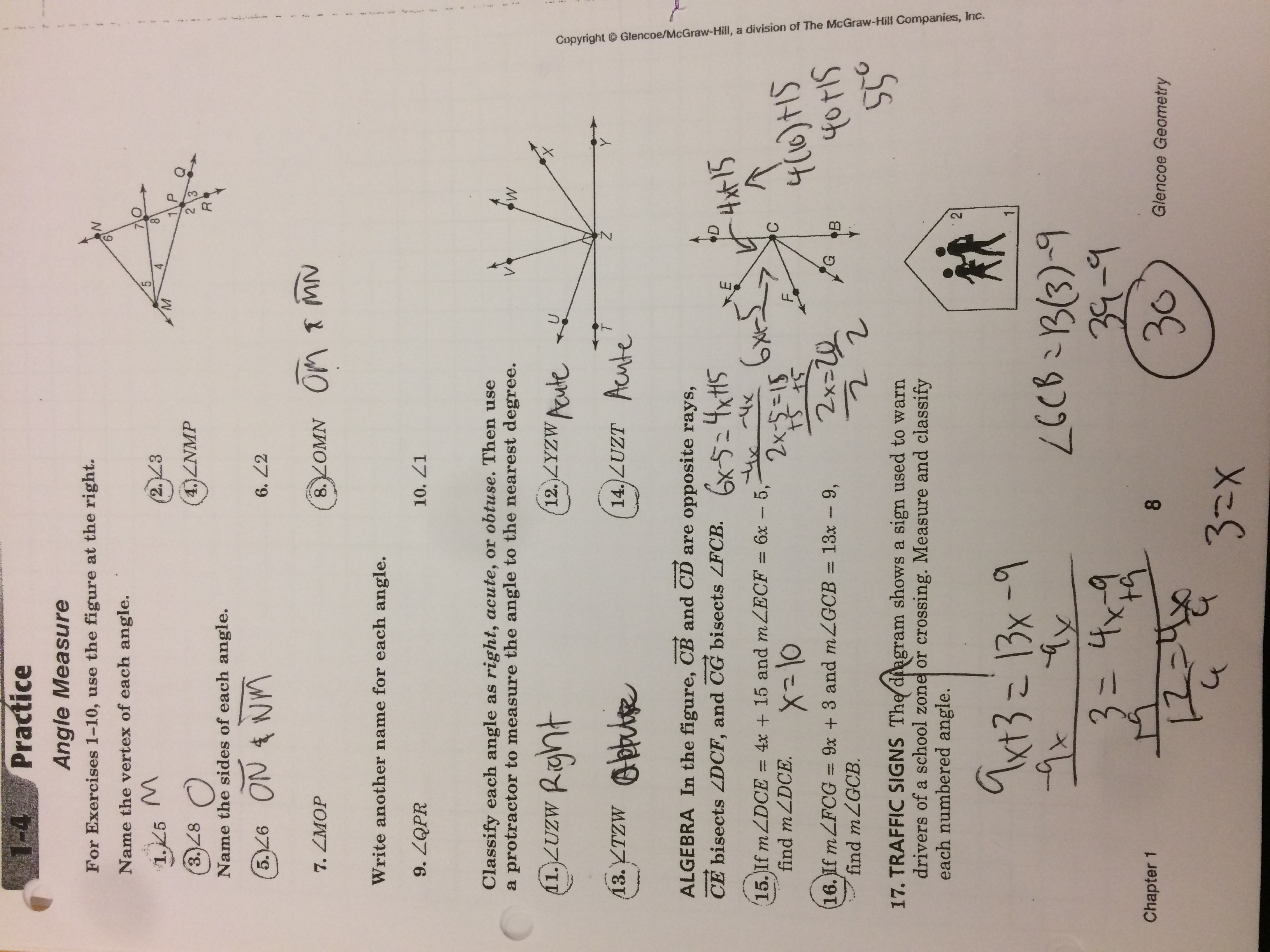 Geometry Worksheet 12 Congruence And Segment Addition