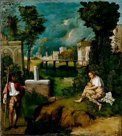 La Tempesta, Giorgione, cerca 1508, Galería de la Academia, Venecia, Italia