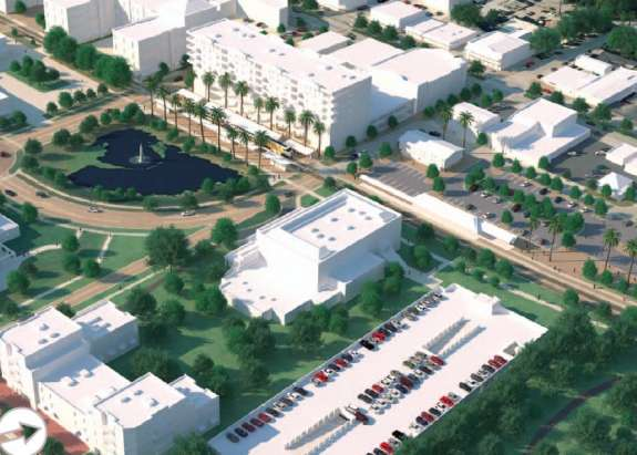 Sunrail will expand to southern Orange County and Osceola County. Here is a rendering of the Kissimmee station. Photo: Sunrail.