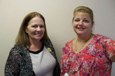 Rhonda Harvey, left, is chief operating officer of WARM, and Alicia Vincent, right, is the executive director.
