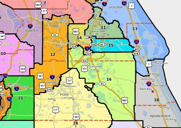 Redistricting could impact Hispanic representation in Central Florida under the Senate's proposed map