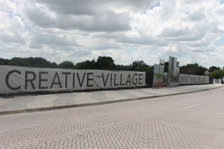 Creative Village, the site of the proposed UCF downtown campus. Photo: Matthew Peddie, WMFE