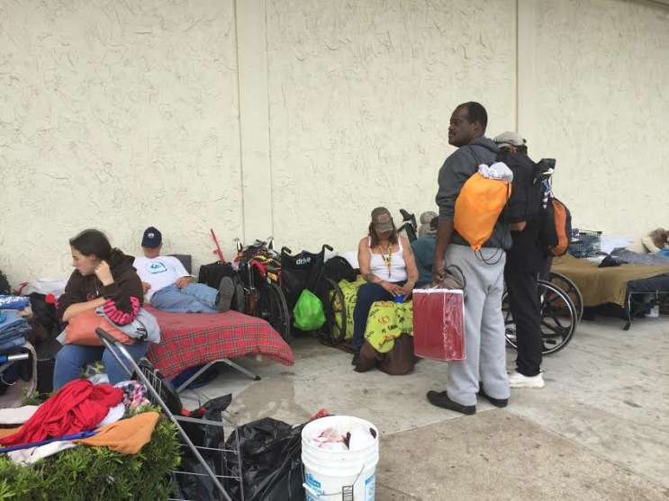 A homeless encampment in Daytona Beach. Photo: Renata Sago.