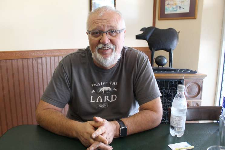 Theo Hollerbach is the chef and owner of Hollerbach's Willow Tree Cafe in Sanford. Photo: Matthew Peddie, WMFE