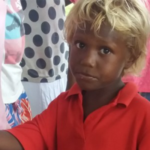 A boy from The Solomon Islands