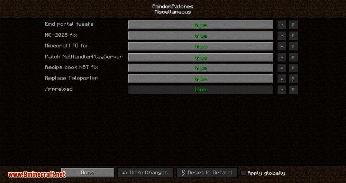 RandomPatches mod for minecraft 09