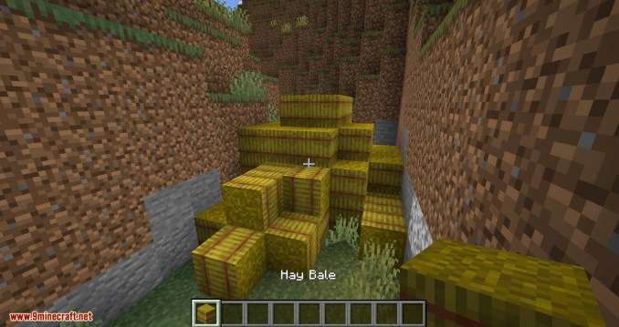Softer Hay Bales mod for minecraft 02
