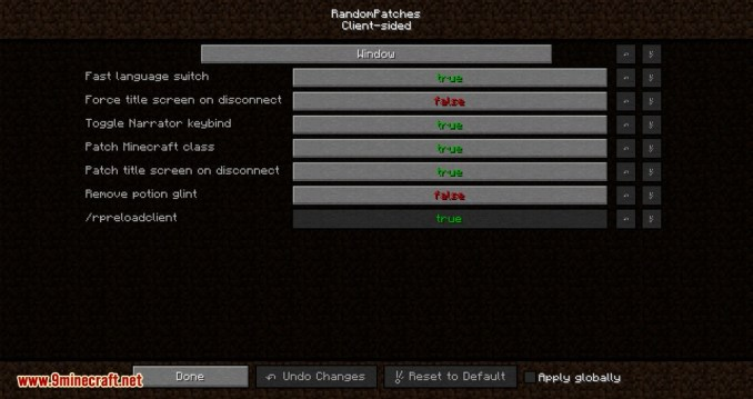 RandomPatches mod for minecraft 06