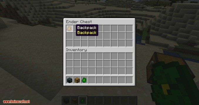 Simple Backpack mod for minecraft 05