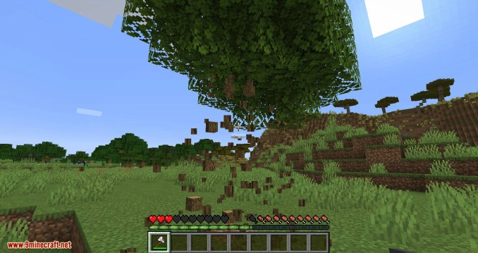 Falling Tree mod for minecraft 03