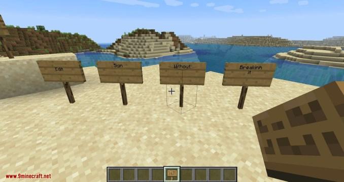 Edit Sign mod for minecraft 09
