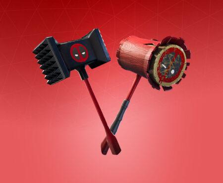 Fortnite Meaty Mallets Harvesting Tool - Full list of cosmetics : Fortnite Deadpool Set | Fortnite skins.