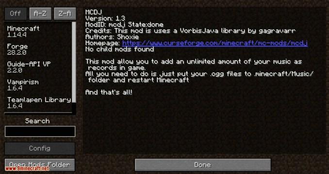 MCDJ mod for minecraft 12