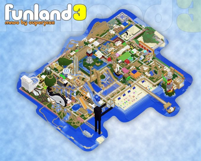 The best Minecraft Creation Maps - Funland 3 maps