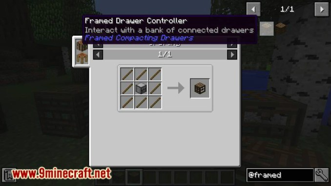 Framed Compacting Drawers mod for minecraft 02