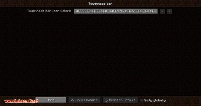 Armor Toughness Bar mod for minecraft 06