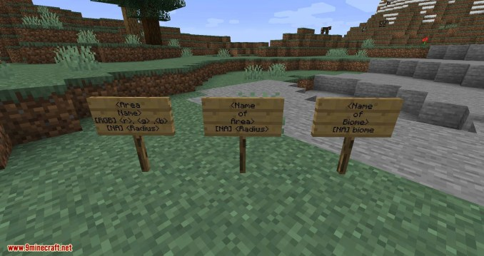Named Areas mod for minecraft 11