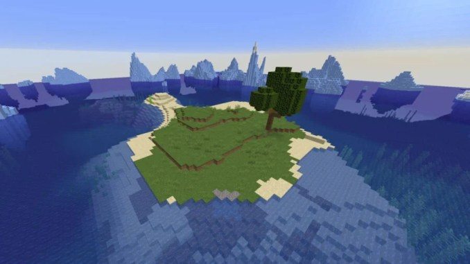 Small Island Surrounded by Icebergs Seed