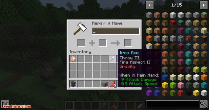 Weapon Throw mod for minecraft 09
