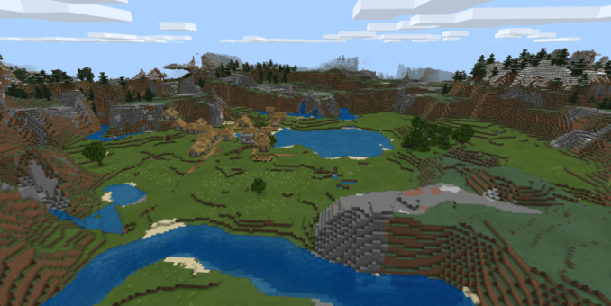 Village Valley - Top 8 Best Bedrock Seeds 1.16 and 1.17 for Minecraft (May 2021)