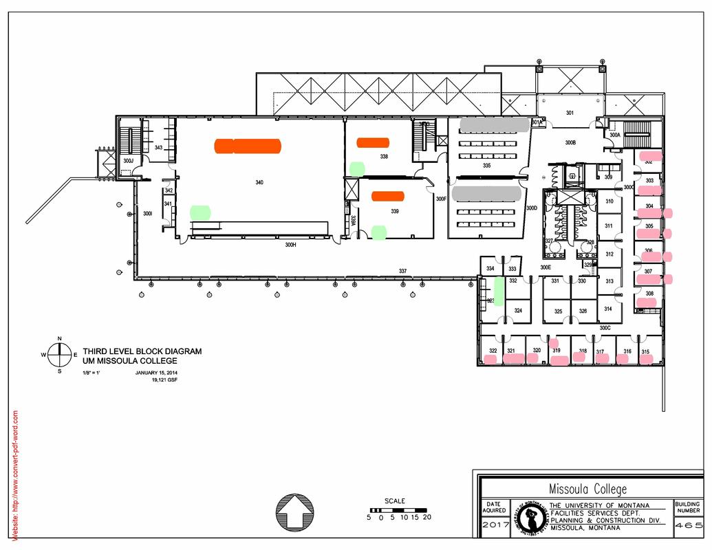 August Institute Missoula College Floor Plan Maps
