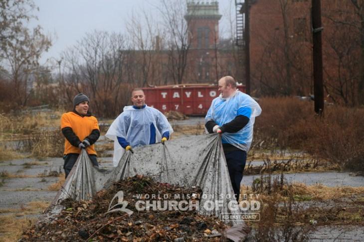 wmscog, world mission society church of god, new windsor, newburgh, orange county, hudson valley, cleanup, asez, reduce crime, mayor harvey, volunteerism