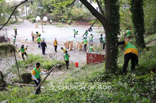 ASEZ, wmscog, world mission society church of god, maryland, baltimore, cleanup, flower planting, reduce crime, volunteerism, mother's street, Briscoe Park