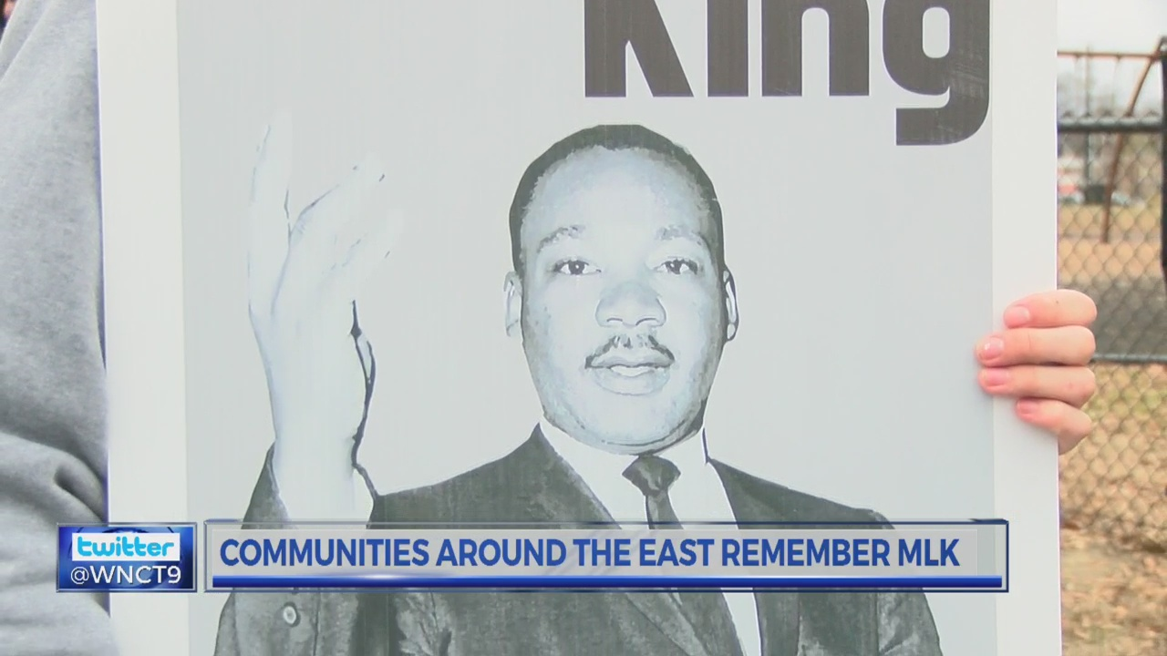 Communities around the east observe Martin Luther King Jr. Day