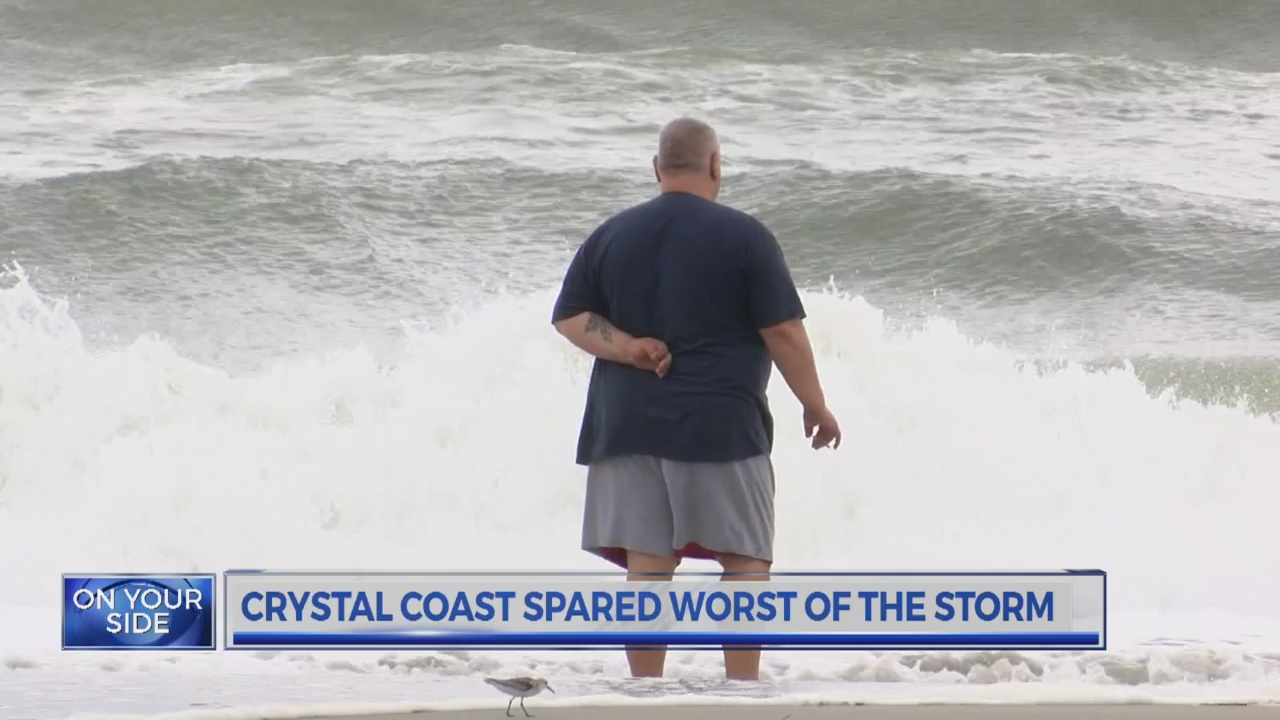 Crystal Coast spared by low pressure system
