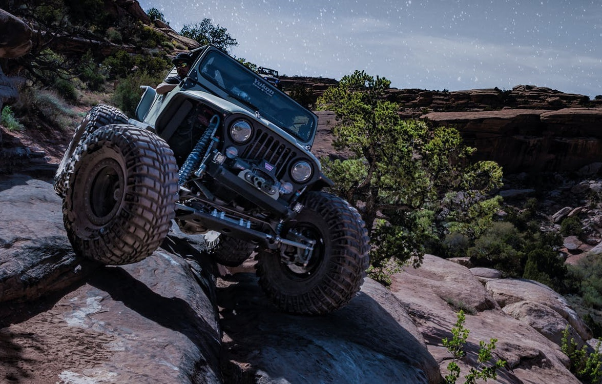 Jeep On Rocks