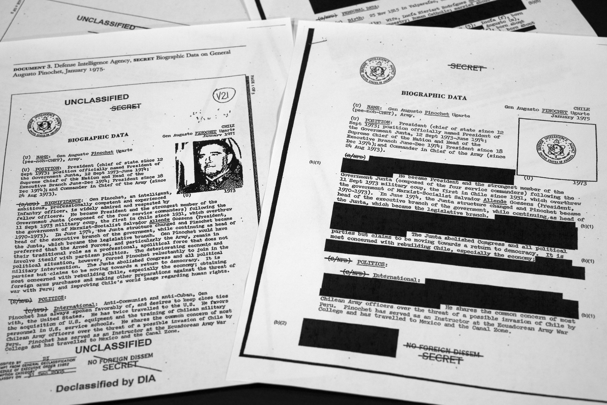 Unredacted and Redacted Govt. Reports