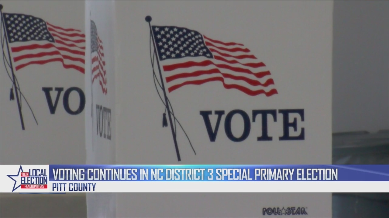 Voting continues in N.C. District 3 special primary election