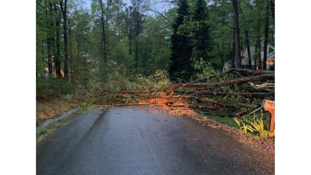 Flooding, downed trees after tornado confirmed in Harnett, Wake counties