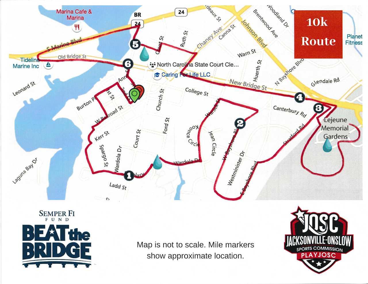 2019 Beat The Bridge 10K Route