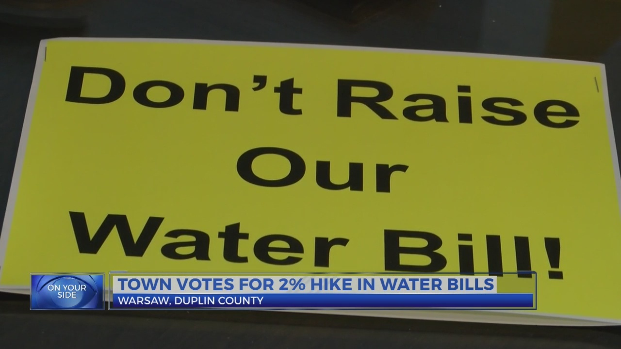 Town votes for 2% hike in water bills