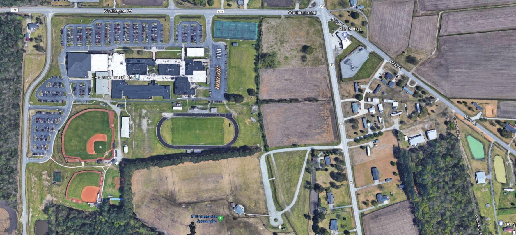D.H. Conley High School Aerial