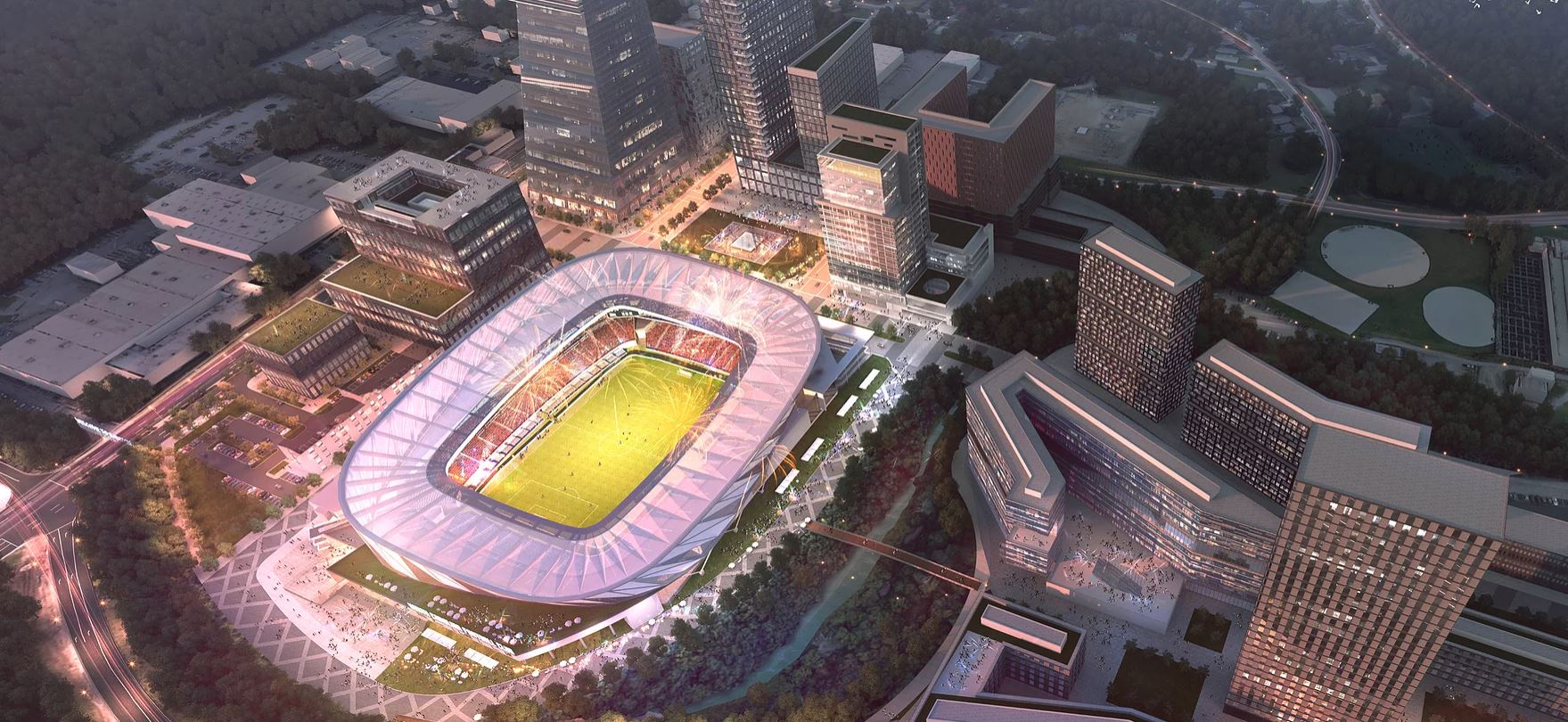 Downtown Raleigh Entertainment District Rendering
