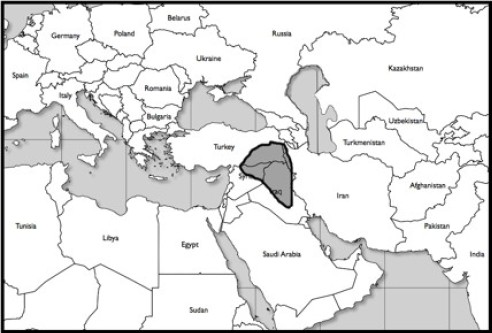 The Assyrian Empire c. 950 B.C. during the reign of King David