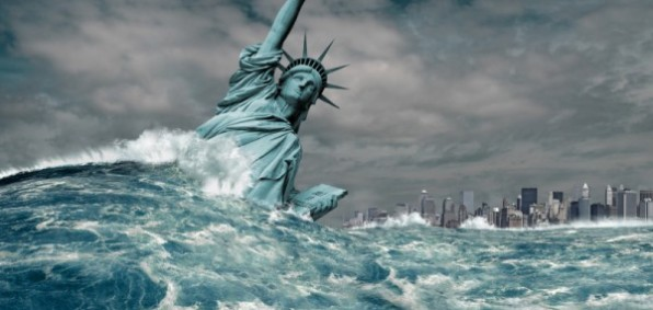 Image result for FALLEN STATUE OF LIBERTY WATER