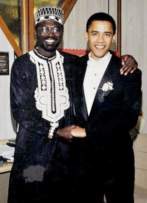 Malik Obama, best man at the wedding of Barack H. Obama, Oct. 3, 1992