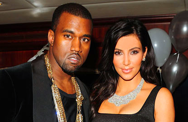 Kim Kardashian and husband Kanye Weest.