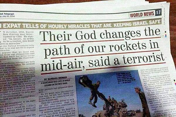 Israel - Hamas  'Hand of God sent missile into sea' (3/4)