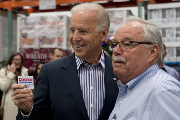 Vice President Joe Biden with Costco co-founder Jim Sinegal at the Washington, D.C., Costco store in 2012.