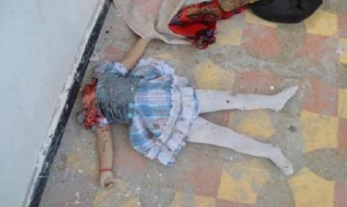 Image of child's decapitated body (image courtesy Catholic.org)