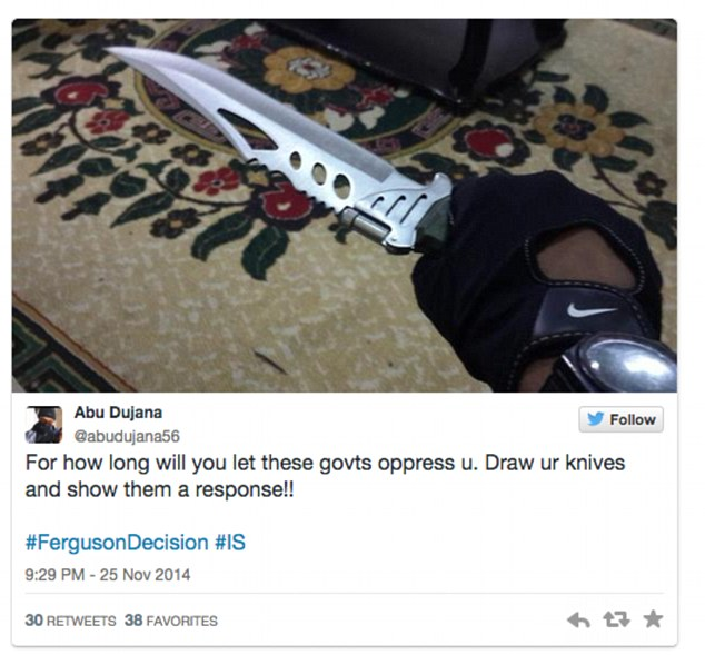 Abu duwan 'draw your knives and show them a response'