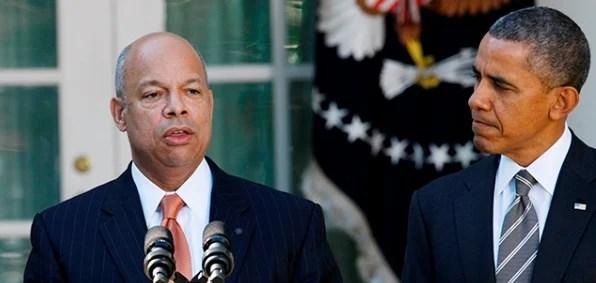 DHS Secretary Jeh Johnson and President Obama